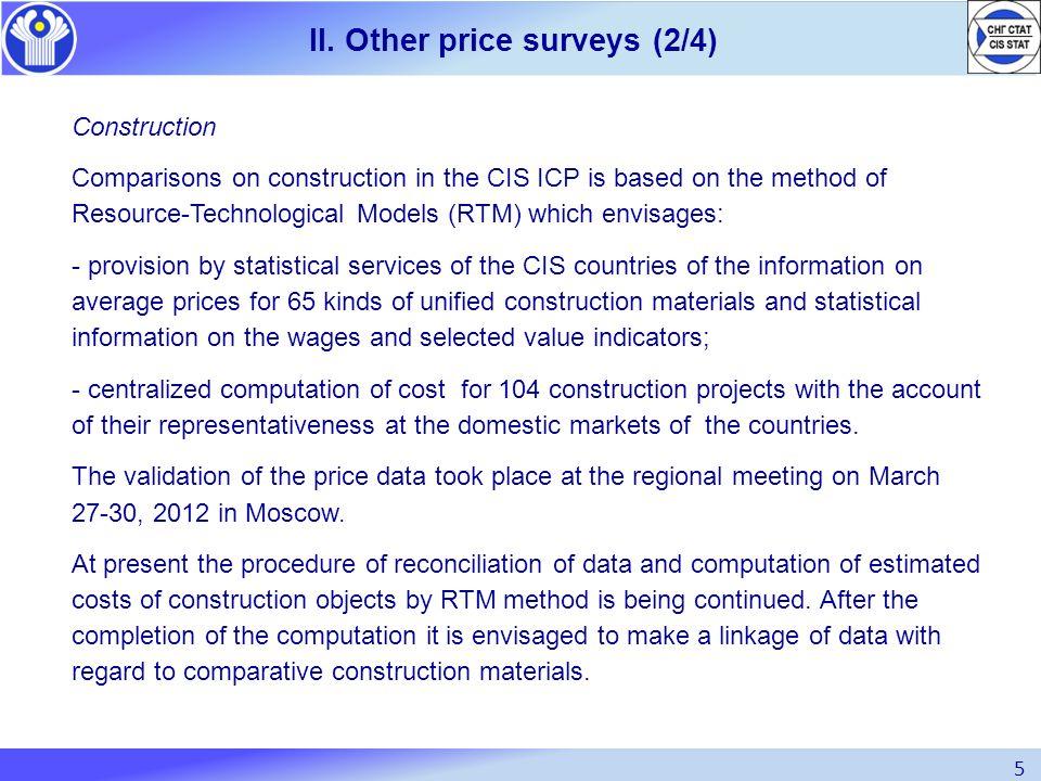 II. Other price surveys (2/4)