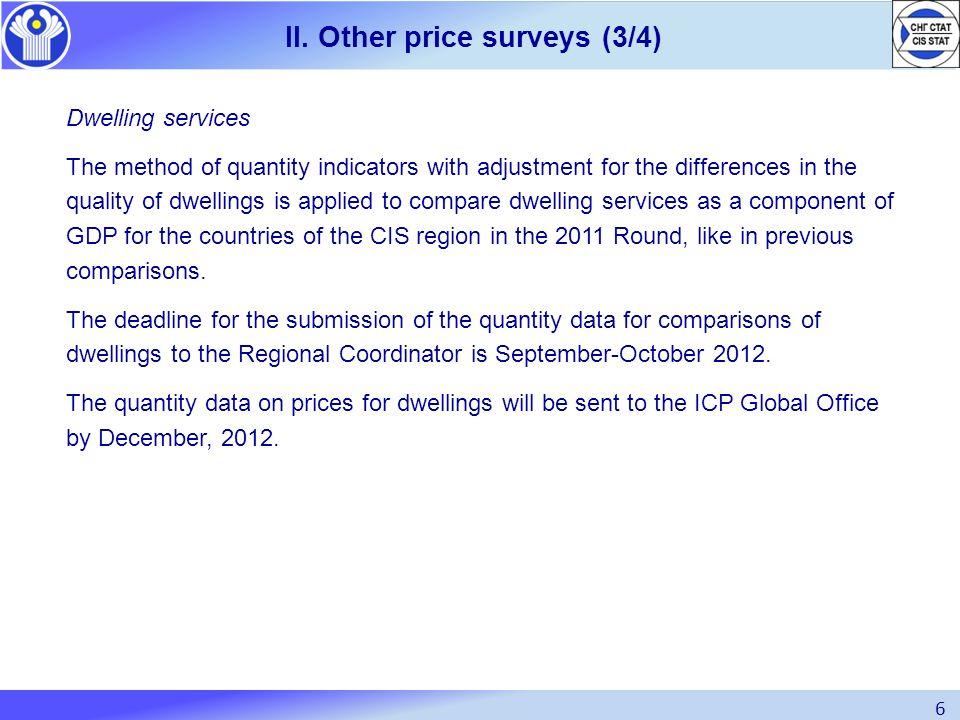 II. Other price surveys (3/4)