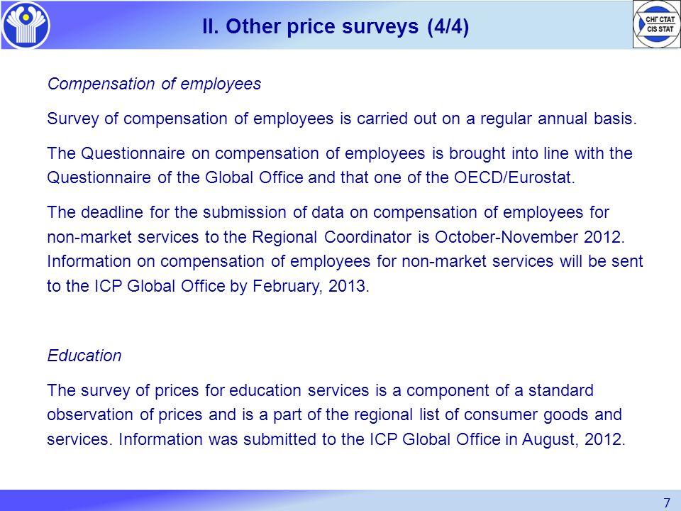 II. Other price surveys (4/4)