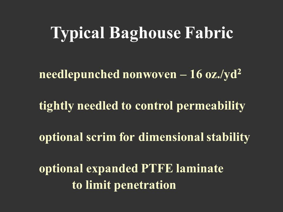 Typical Baghouse Fabric