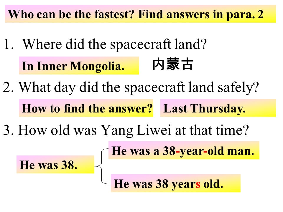 Where did the spacecraft land