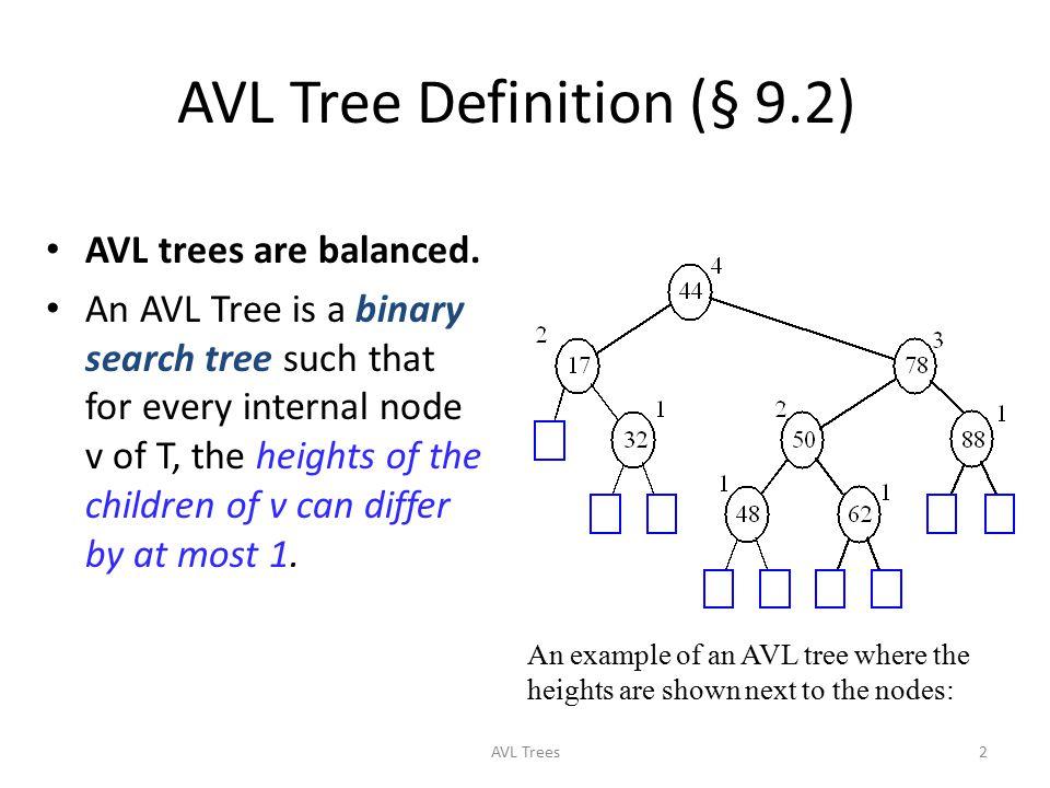 AVL Tree Definition (§ 9.2)