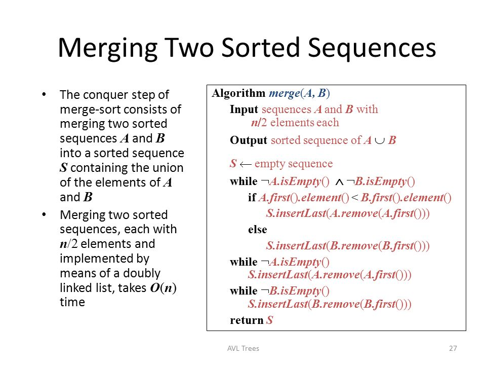 Merging Two Sorted Sequences