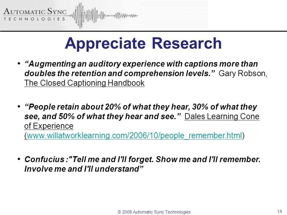 Appreciate Research