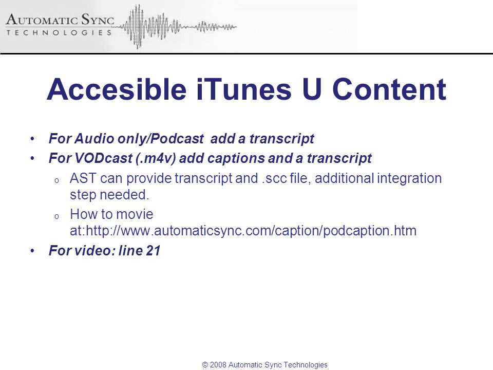 Accesible iTunes U Content