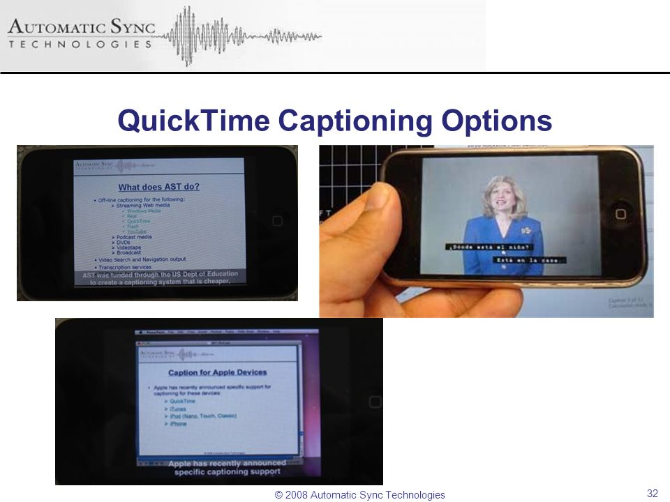 QuickTime Captioning Options