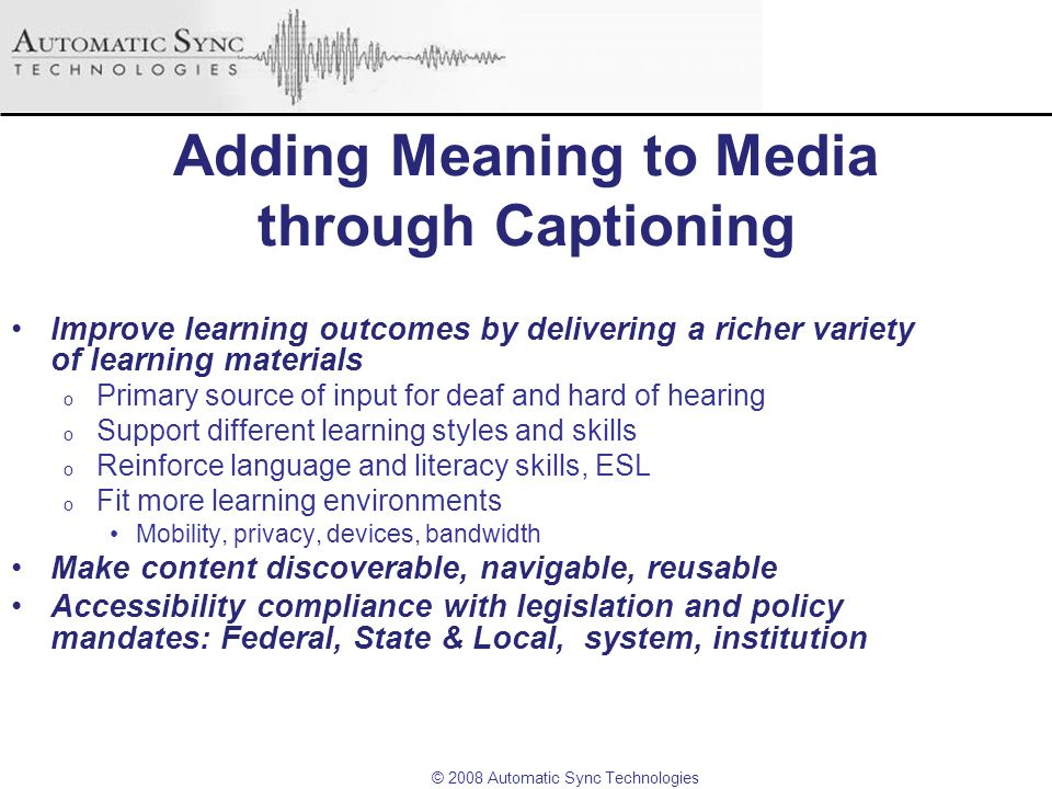 Adding Meaning to Media through Captioning