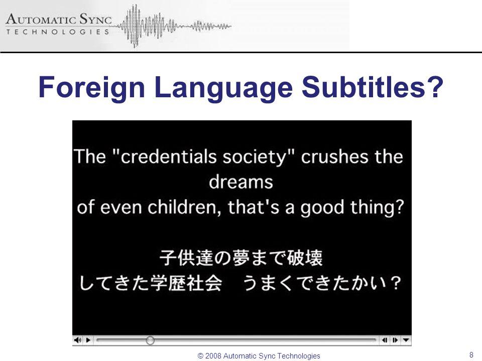 Foreign Language Subtitles