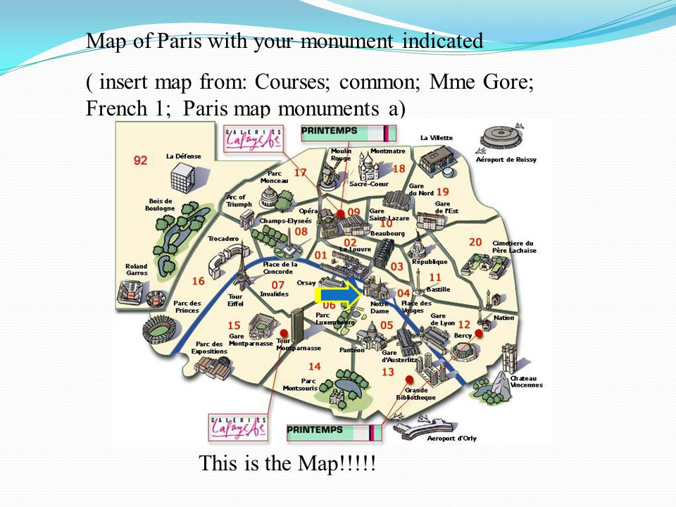 Rubric For Paris Powerpoint Ppt Download - Paris map monuments