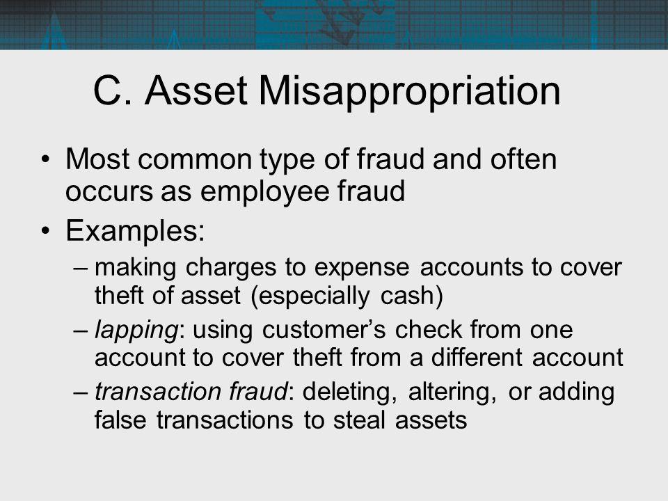 C. Asset Misappropriation