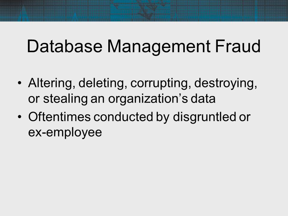 Database Management Fraud