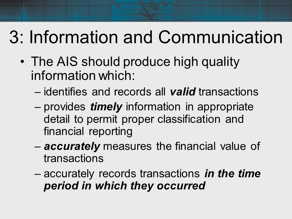 3: Information and Communication