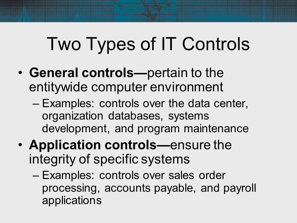 Two Types of IT Controls