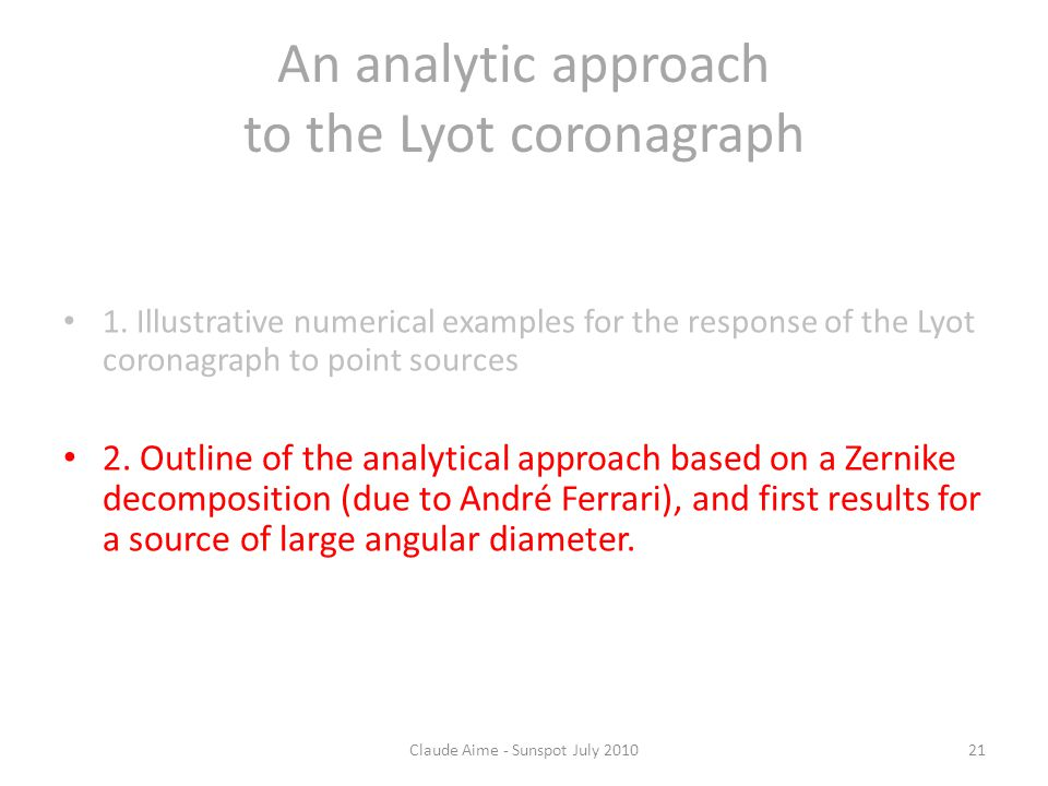 An analytic approach to the Lyot coronagraph