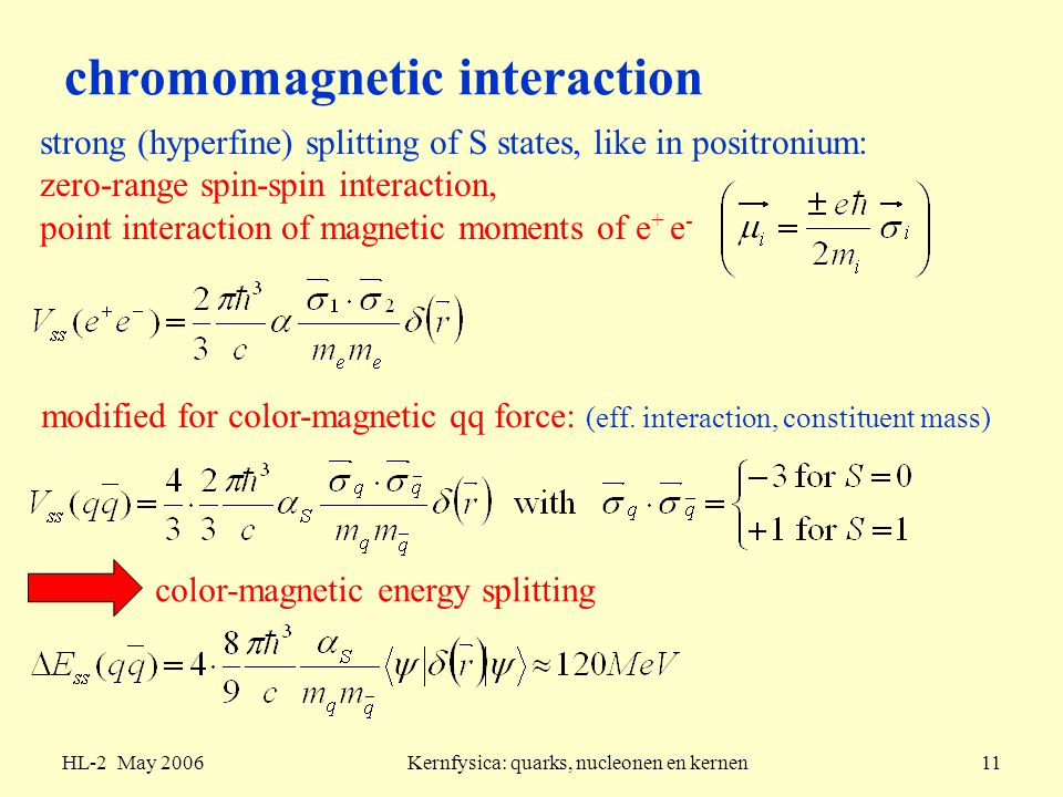 chromomagnetic interaction