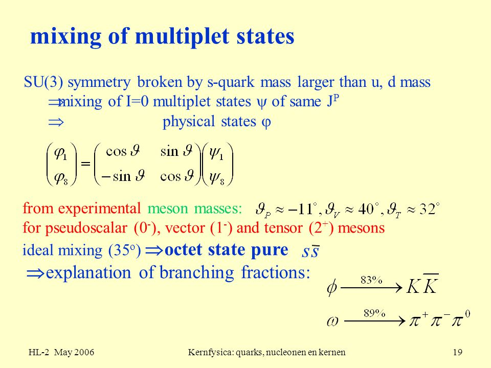 mixing of multiplet states