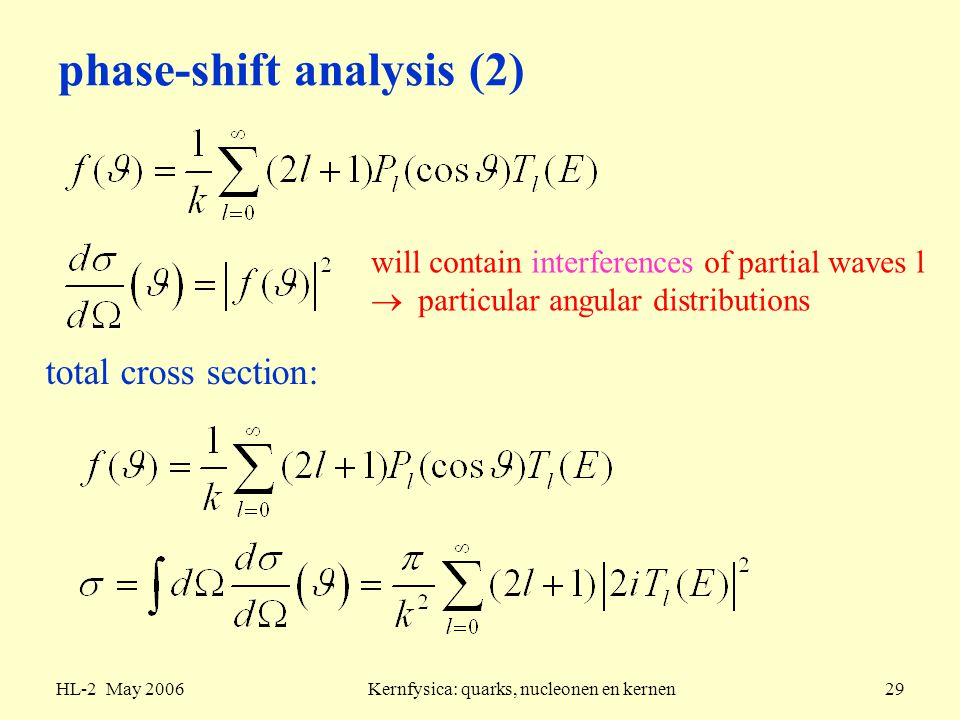 phase-shift analysis (2)