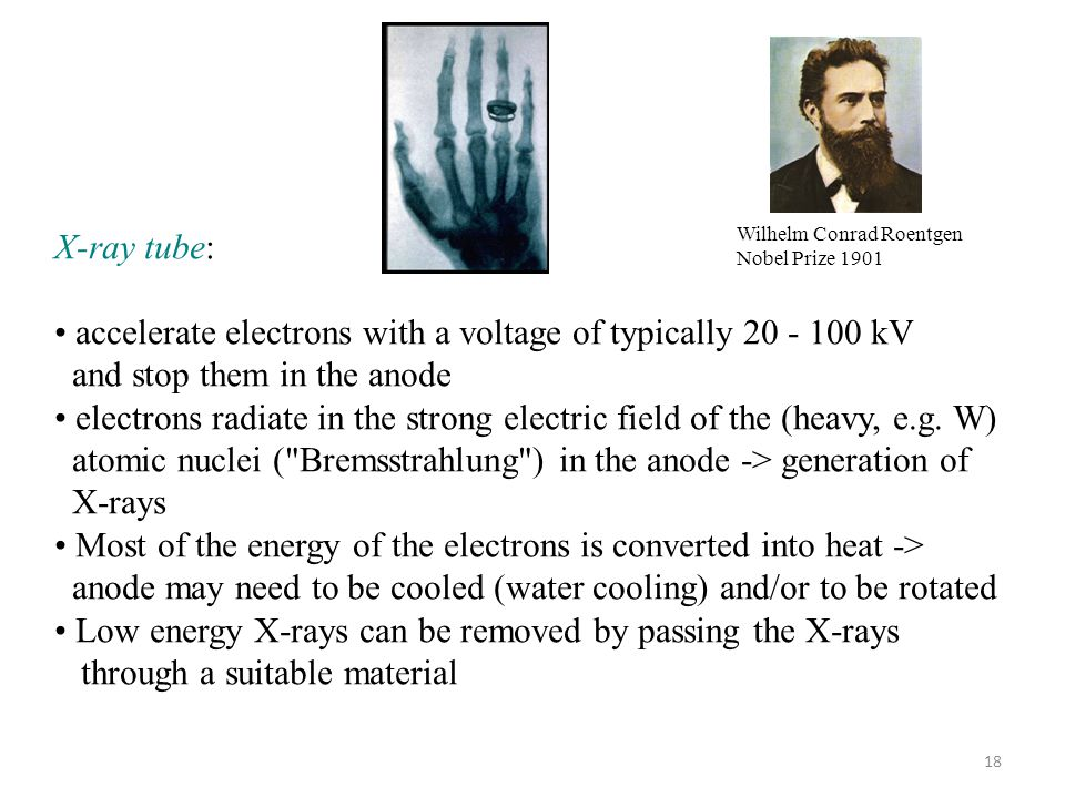 accelerate electrons with a voltage of typically 20 - 100 kV