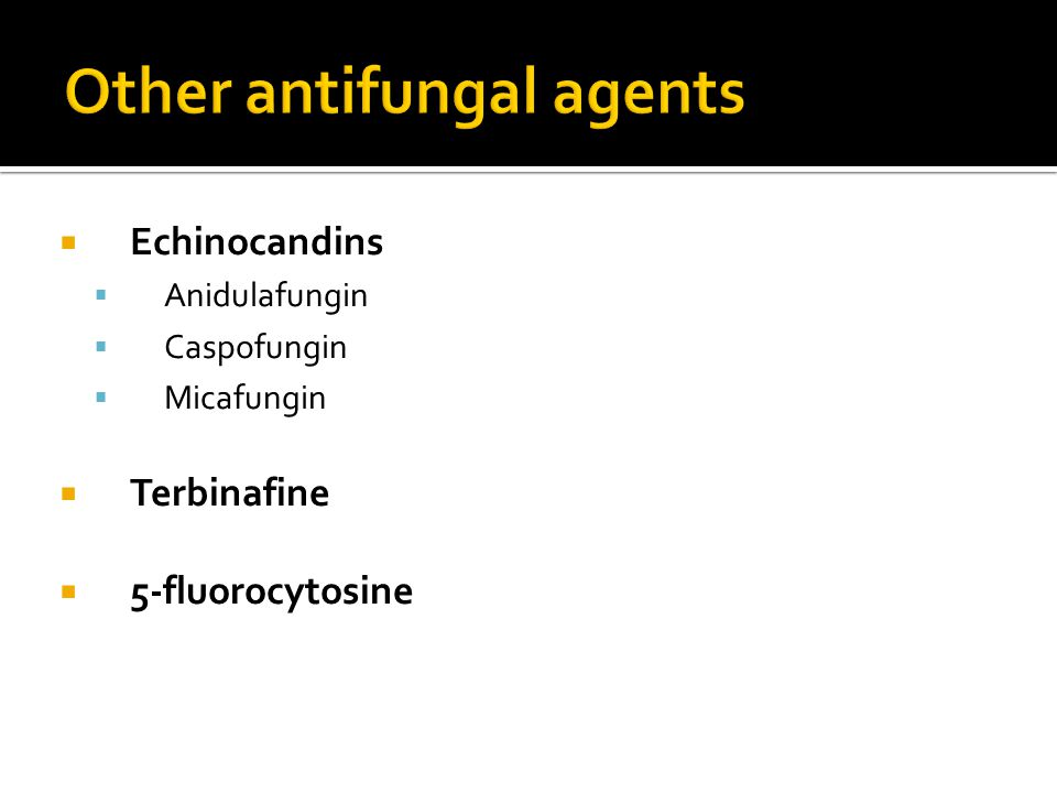 Other antifungal agents