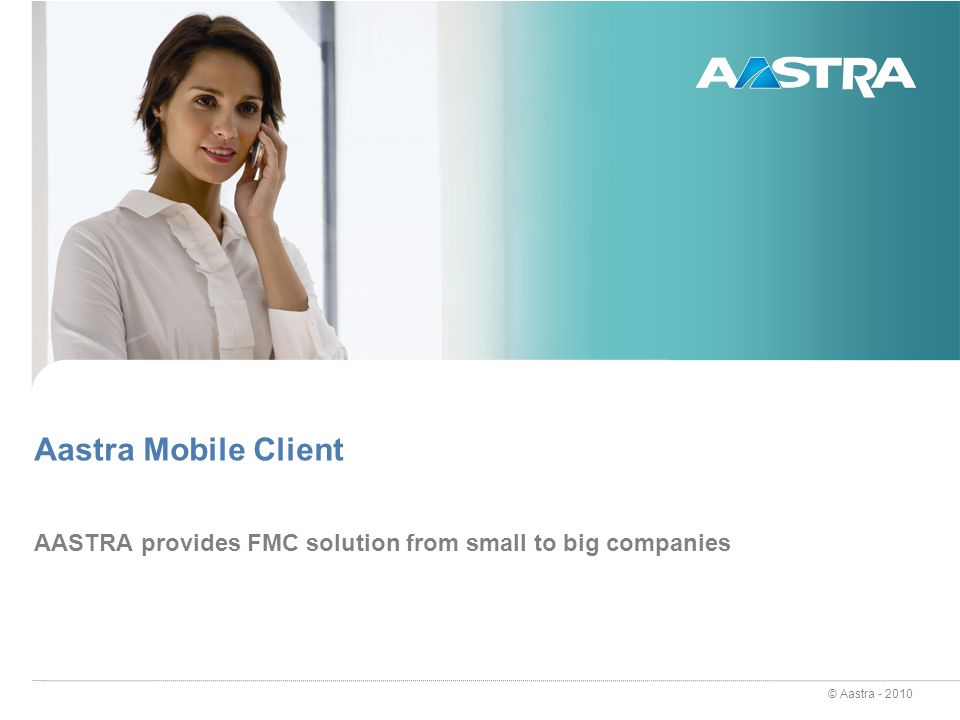 AASTRA provides FMC solution from small to big companies