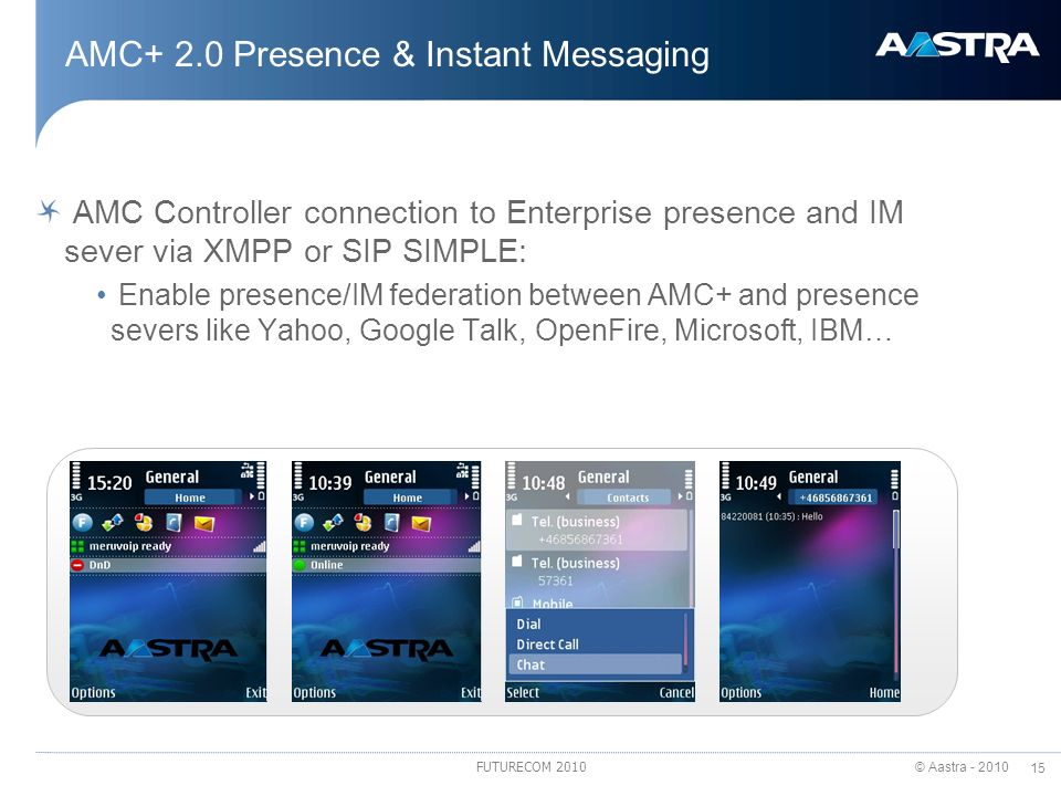 AMC+ 2.0 Presence & Instant Messaging