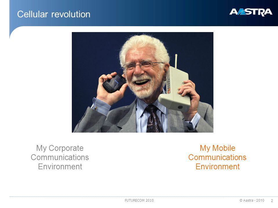 Cellular revolution My Corporate Communications Environment