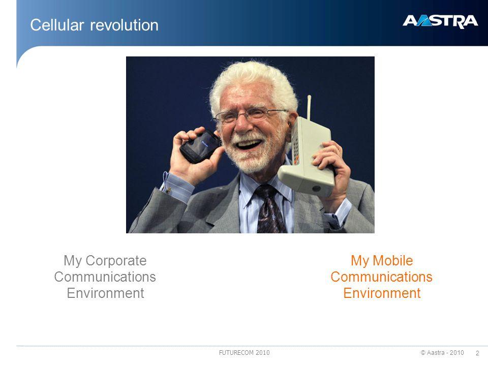 Cellular revolution My Corporate Communications Environment
