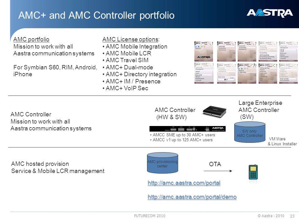 AMC+ and AMC Controller portfolio