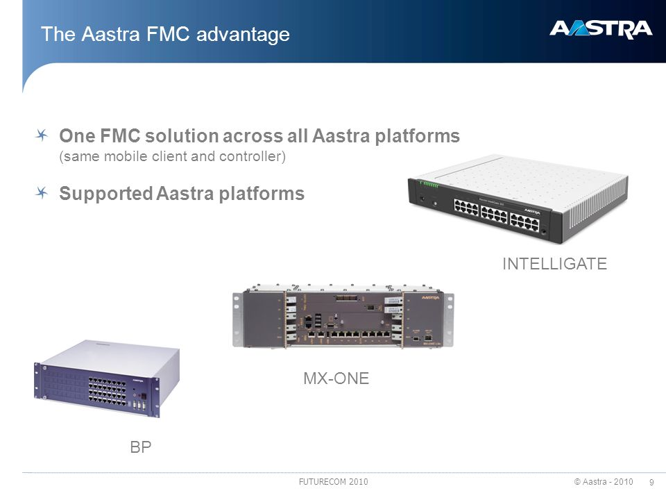 The Aastra FMC advantage