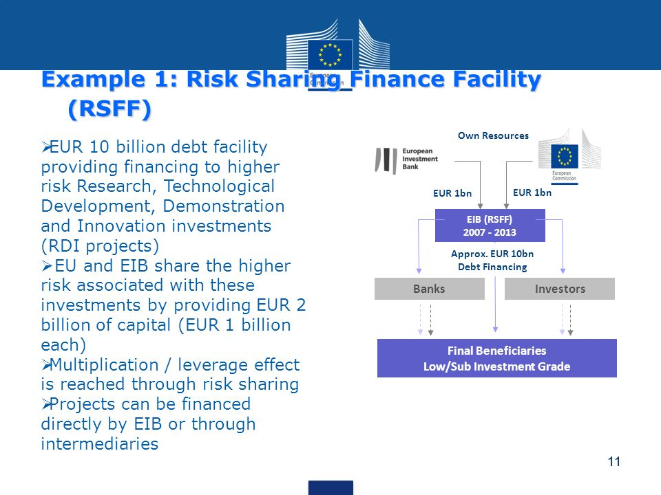 Example 1: Risk Sharing Finance Facility (RSFF)