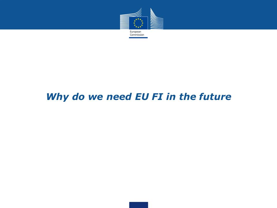 Why do we need EU FI in the future