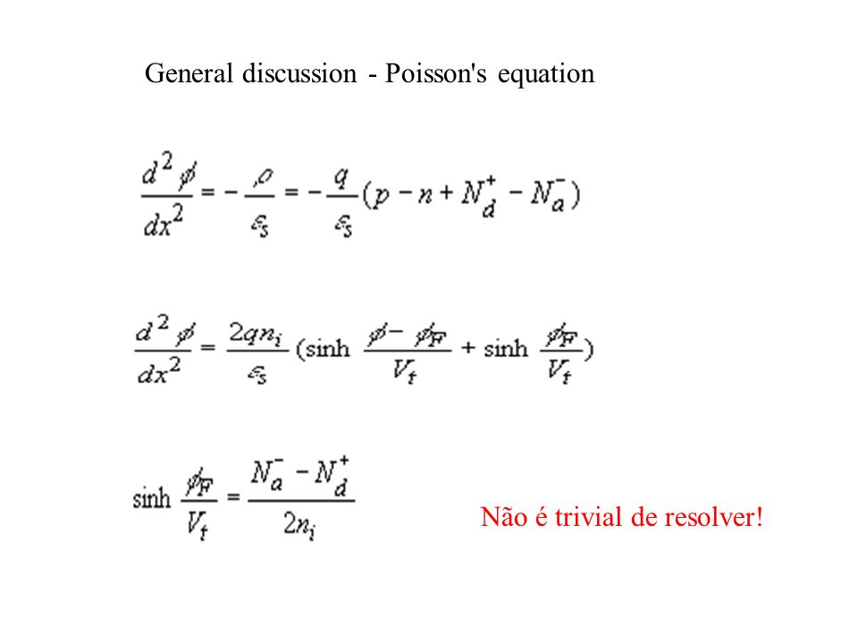 General discussion - Poisson s equation