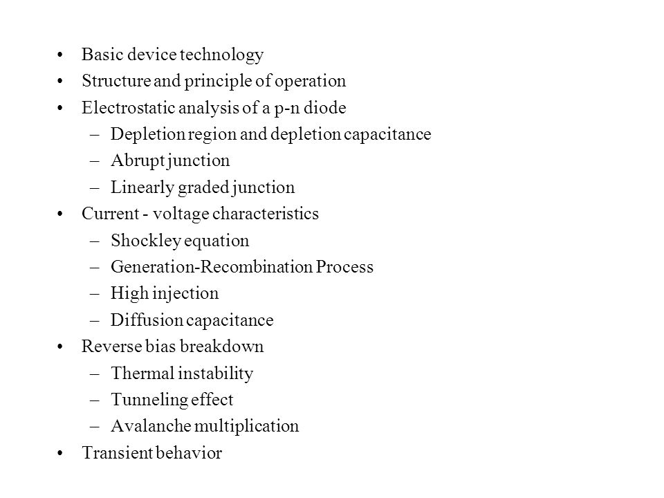 Basic device technology