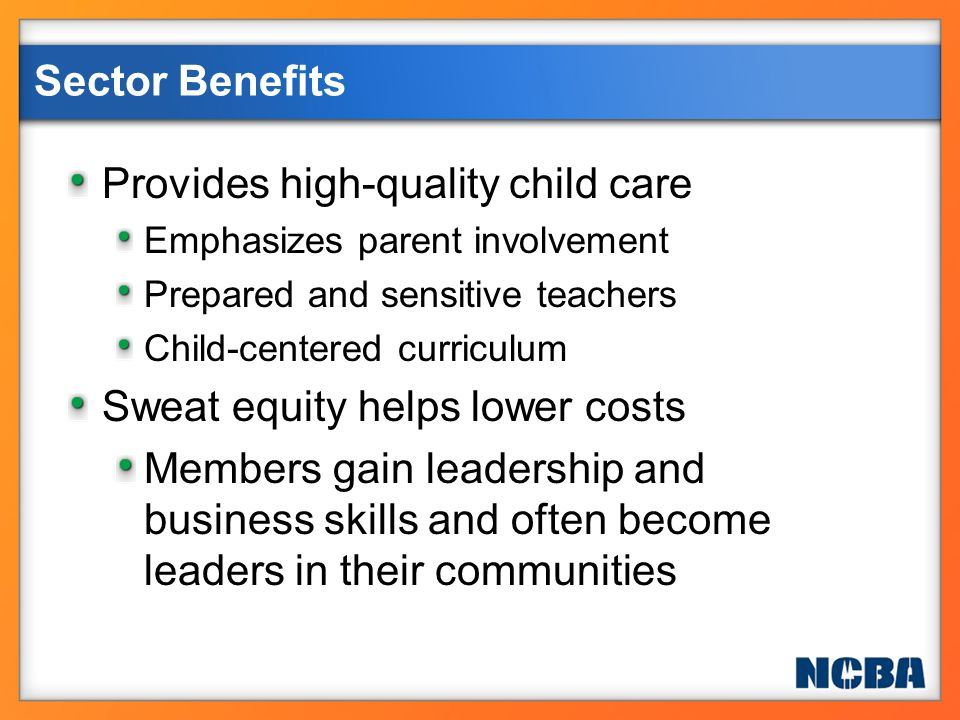 Provides high-quality child care