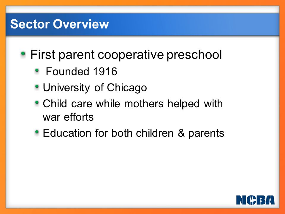 First parent cooperative preschool