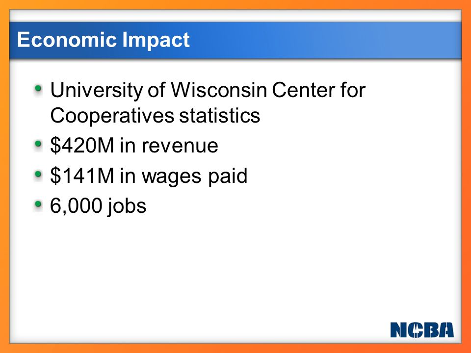 University of Wisconsin Center for Cooperatives statistics