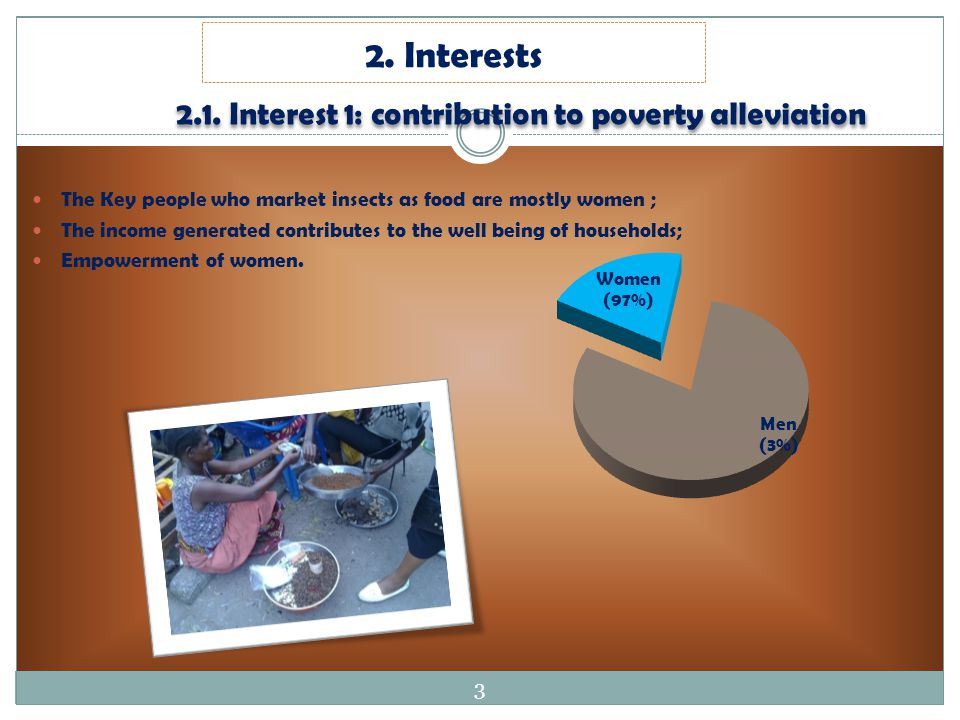 2.1. Interest 1: contribution to poverty alleviation