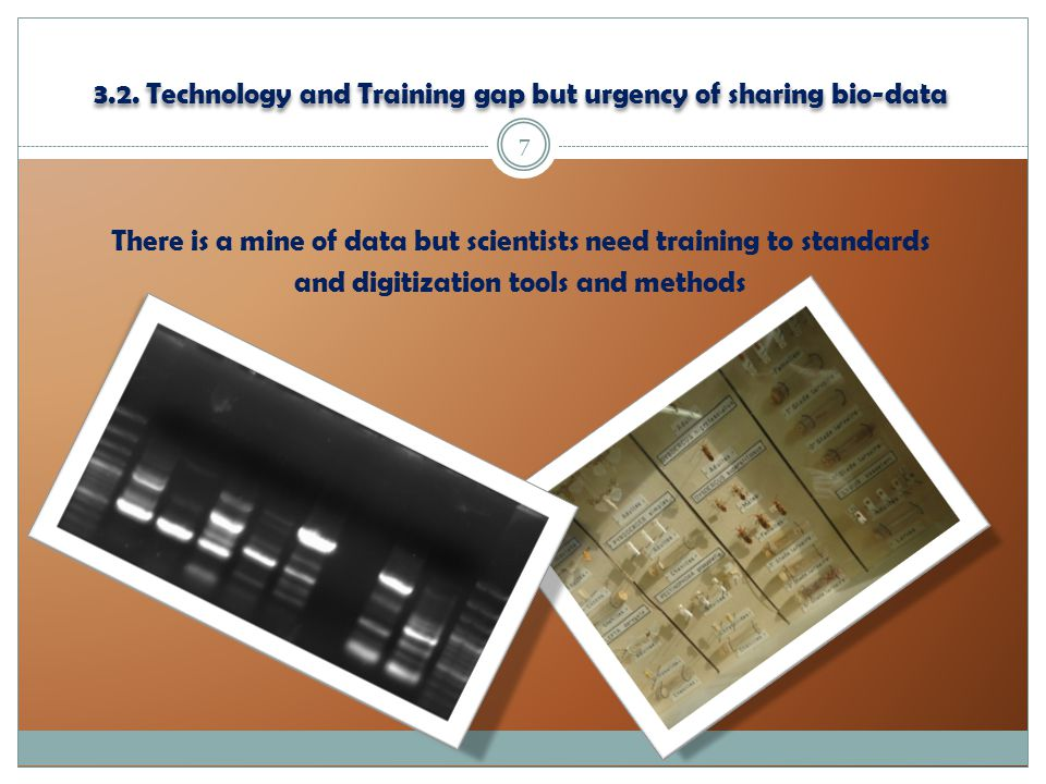 3.2. Technology and Training gap but urgency of sharing bio-data