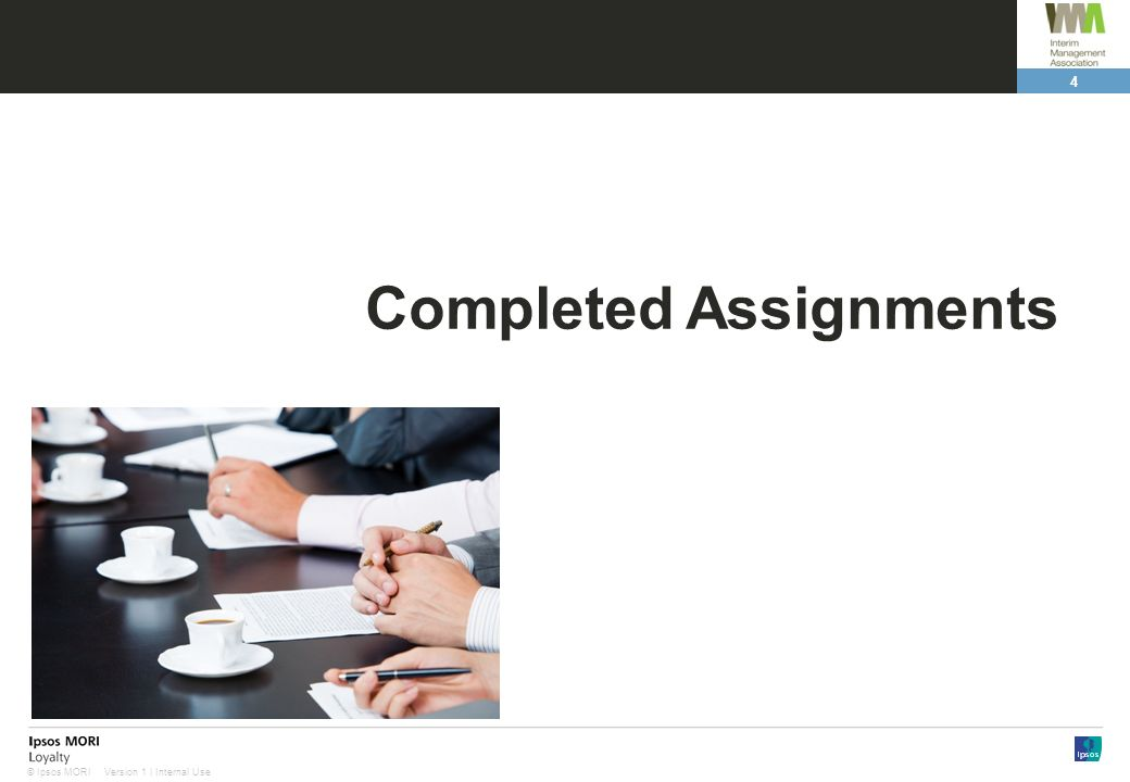 Completed Assignments