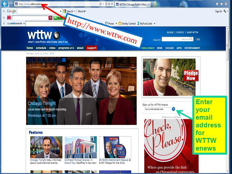 http://www.wttw.com Enter your email address for WTTW enews