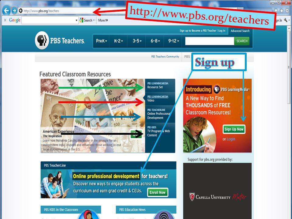 http://www.pbs.org/teachers Sign up Click on The American President