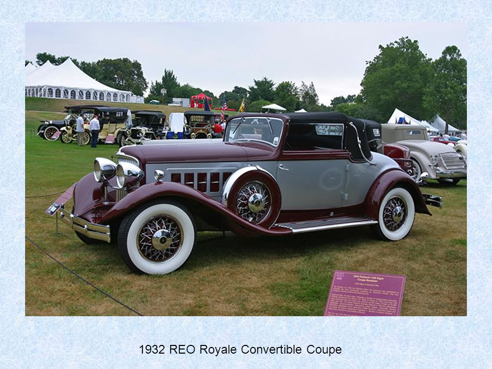 1932 REO Royale Convertible Coupe