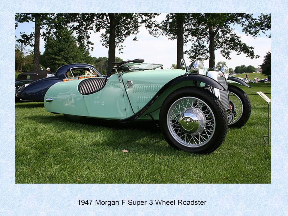 1947 Morgan F Super 3 Wheel Roadster