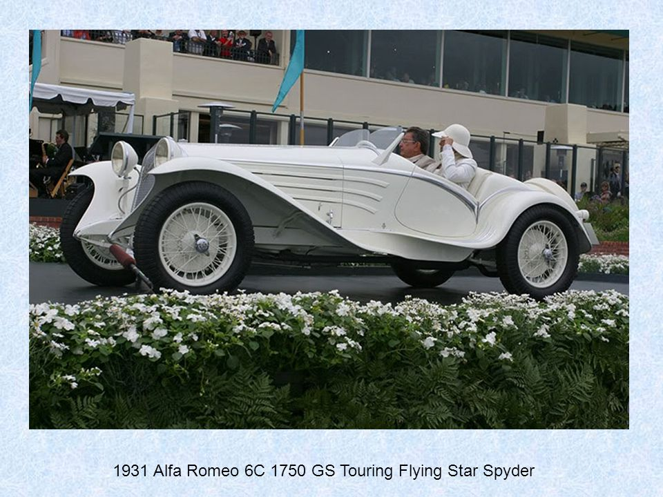 1931 Alfa Romeo 6C 1750 GS Touring Flying Star Spyder