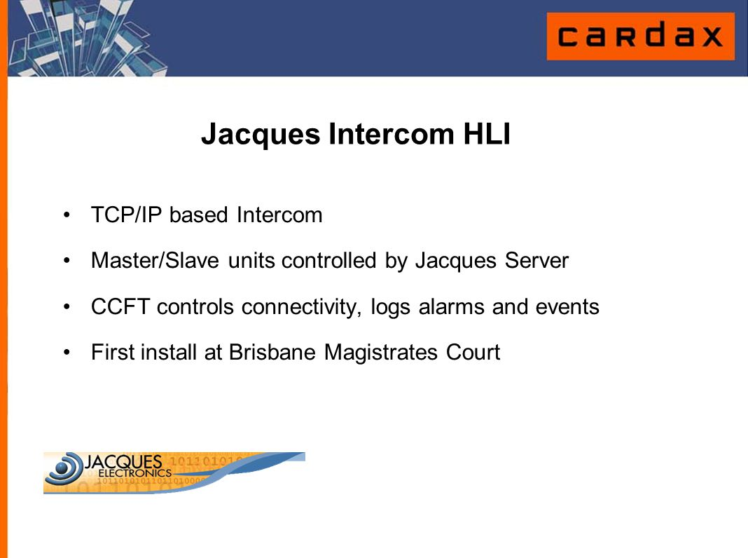 Jacques Intercom HLI TCP/IP based Intercom