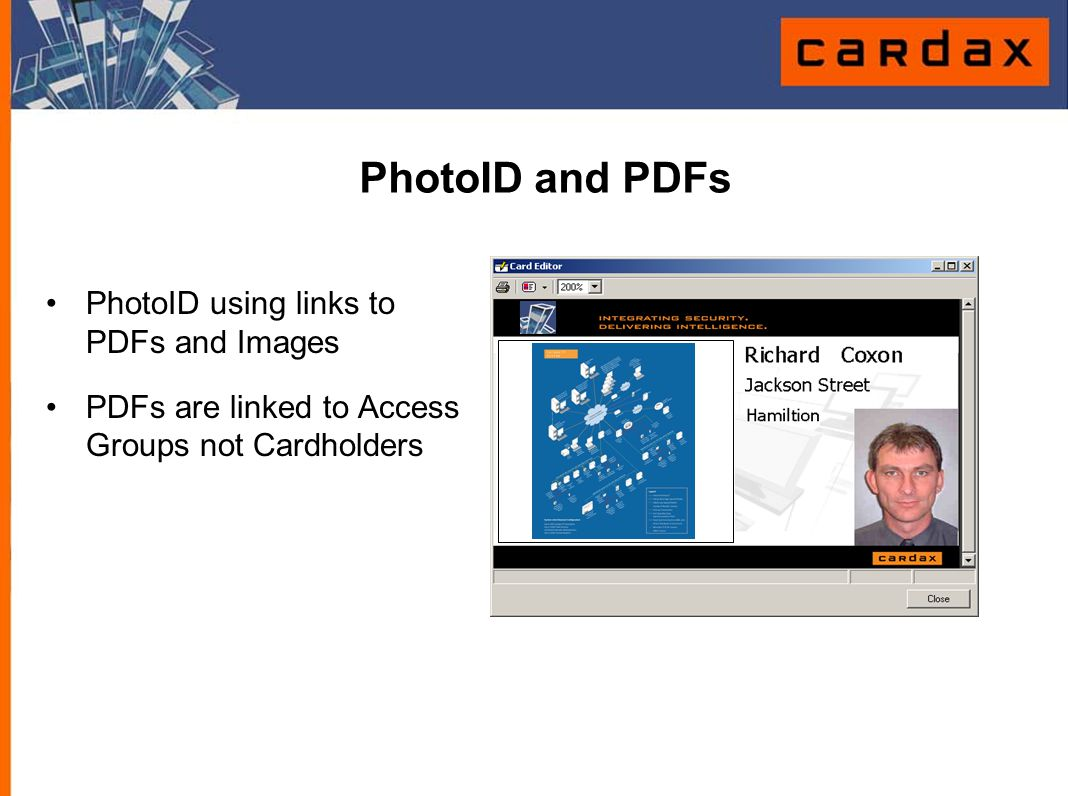 PhotoID and PDFs PhotoID using links to PDFs and Images