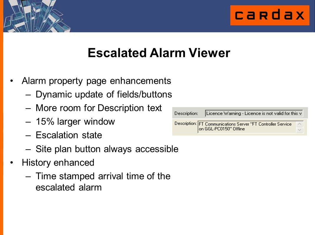 Escalated Alarm Viewer