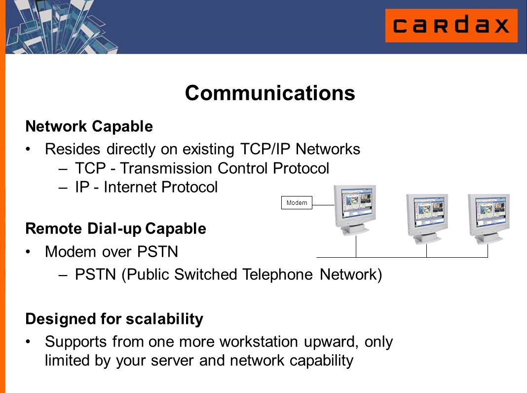 Communications Network Capable
