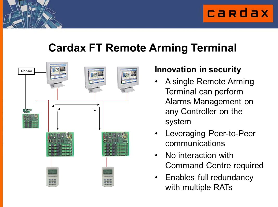 Cardax FT Remote Arming Terminal