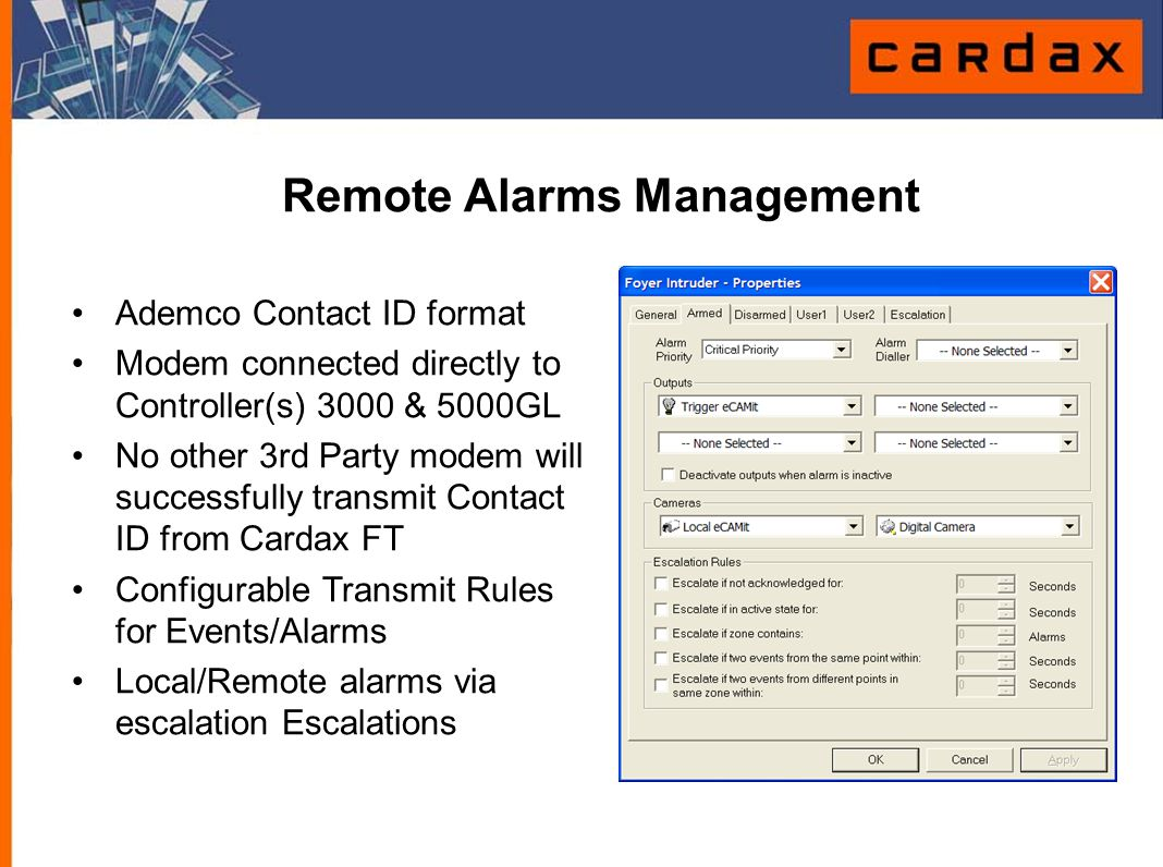 Remote Alarms Management